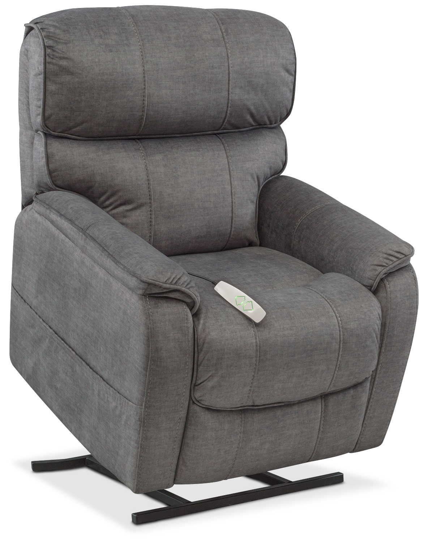 Living Room Furniture   Mondo Power Lift Recliner   Gray