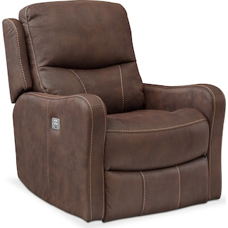 Cabo Dual Power Recliner - Brown