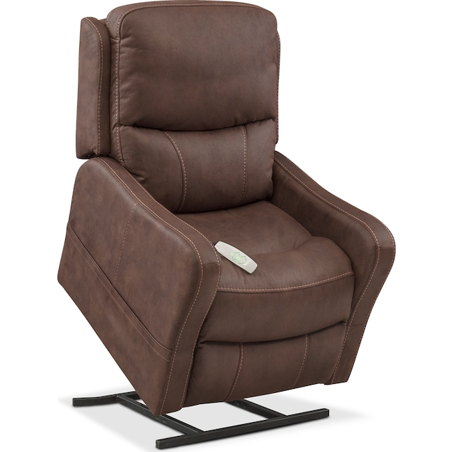 Living Room Furniture - Cabo Power Lift Recliner - Brown
