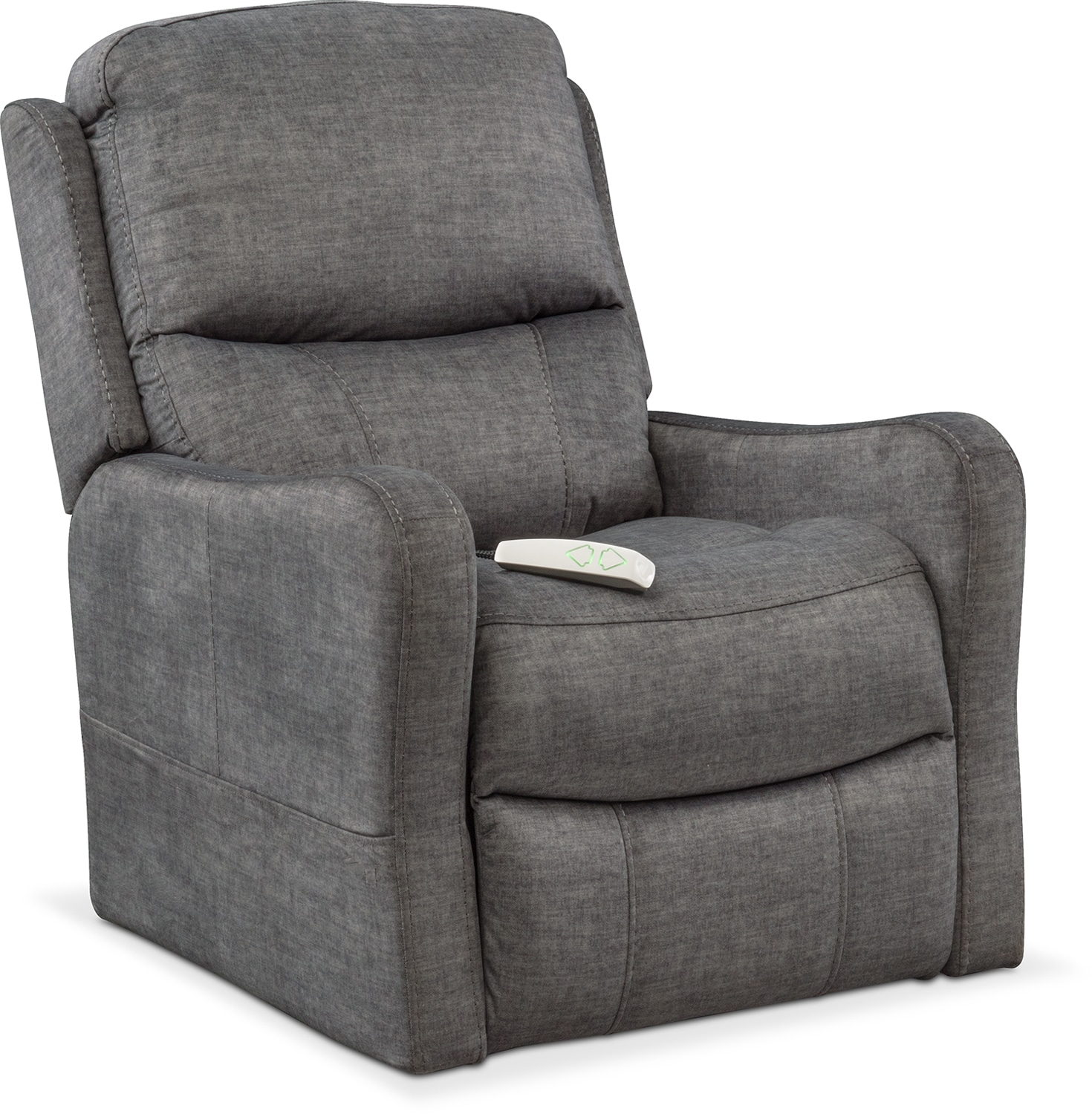 Cabo Power Lift Recliner Gray American Signature Furniture