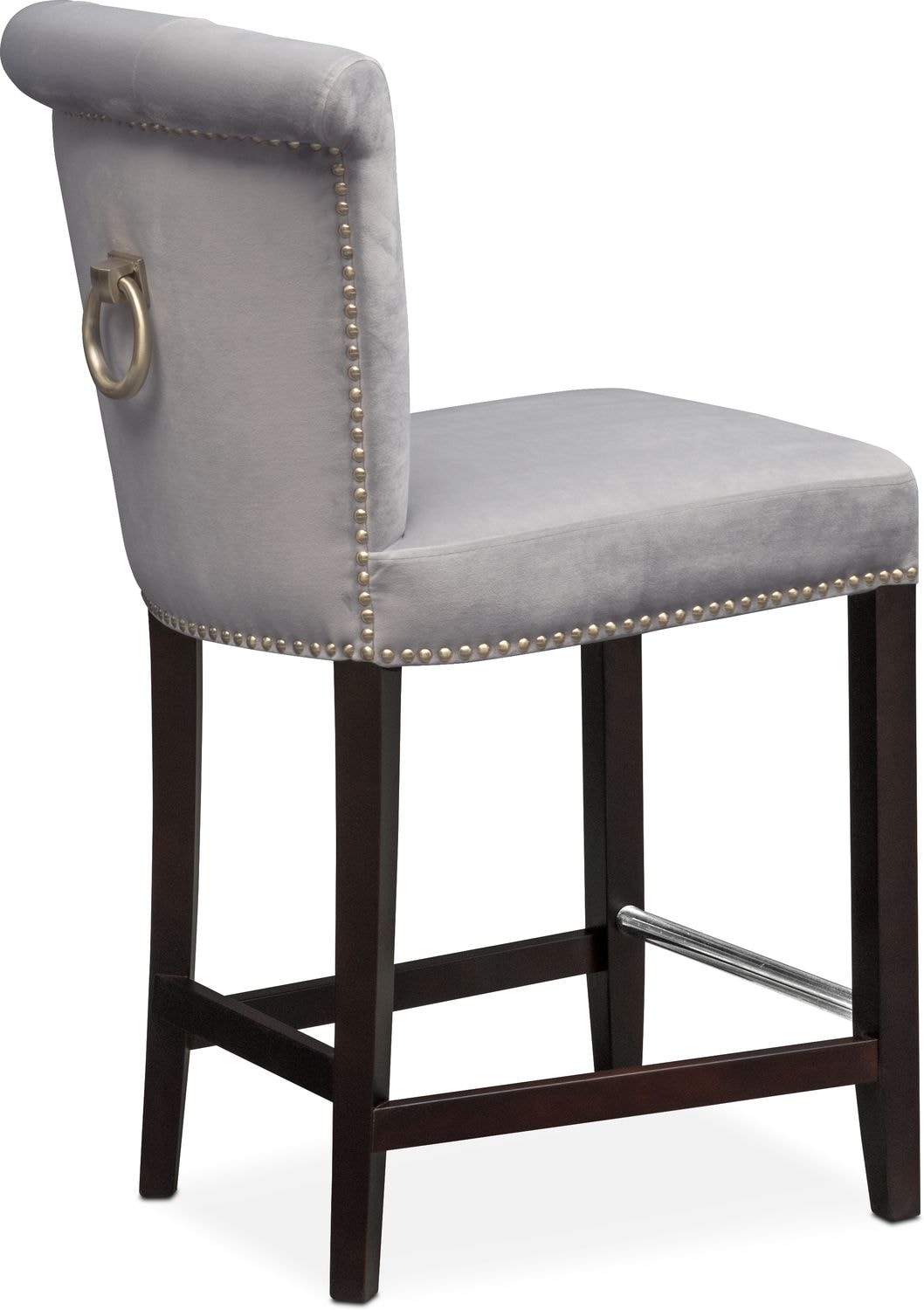 Calloway Counter Height Stool Gray Gold American