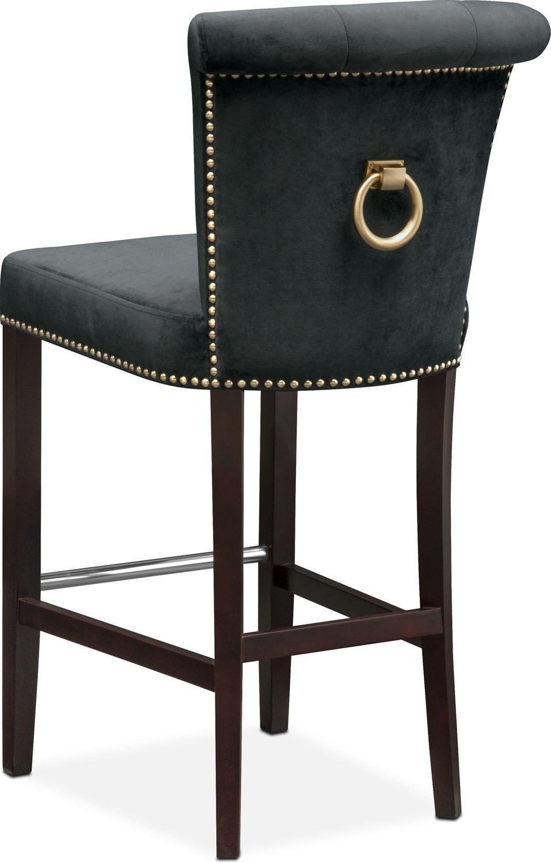 Calloway Barstool - Black/Gold   American Signature Furniture