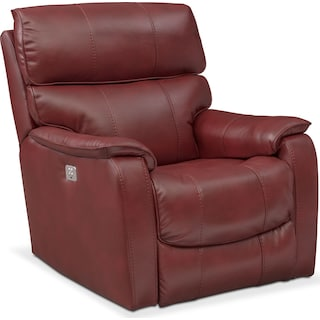 Mondo Dual Power Recliner - Red
