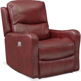 Cabo Dual Power Recliner - Red