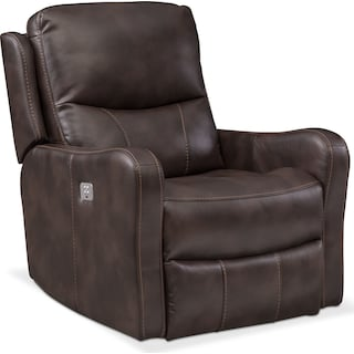 Cabo Dual Power Recliner - Chocolate