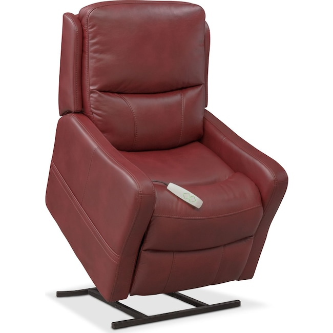 Living Room Furniture - Cabo Power Lift Recliner - Red