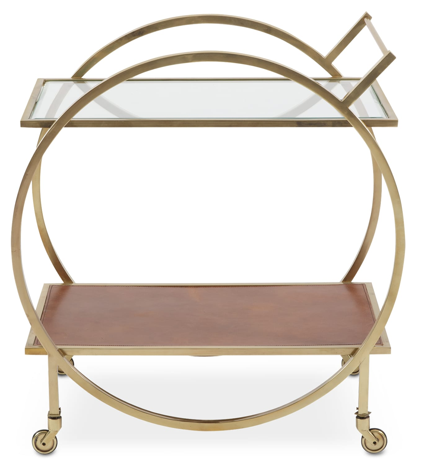 lindy serving cart brass american signature furniture