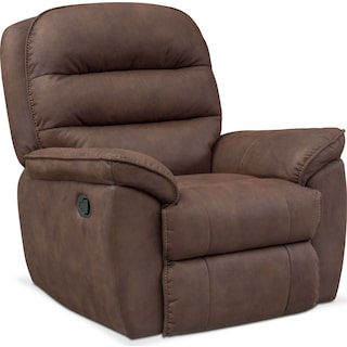 Regis Manual Glider Recliner - Brown