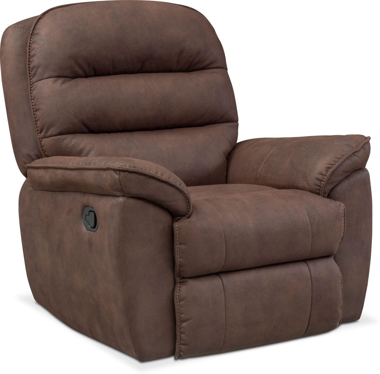 regis glider recliner brown - Serta Recliners