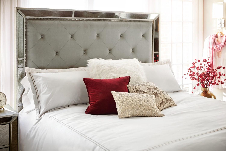 Angelina 6-Piece Queen Bedroom Set - Metallic | American Signature ...