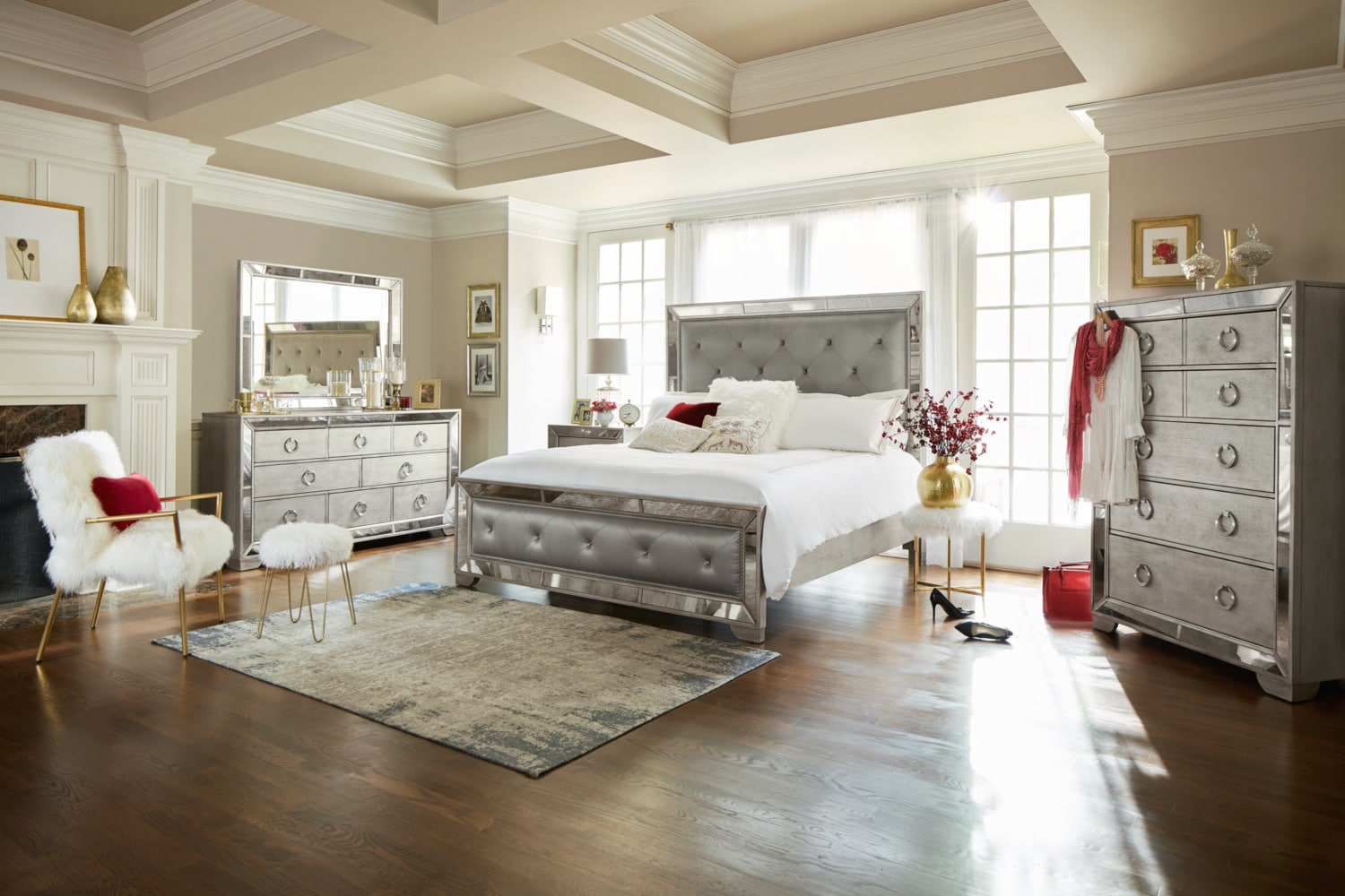 The Angelina Bedroom Collection Metallic American