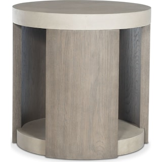 Riviera End Table - Silver