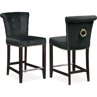 Calloway Counter-Height Stool - Black/Gold
