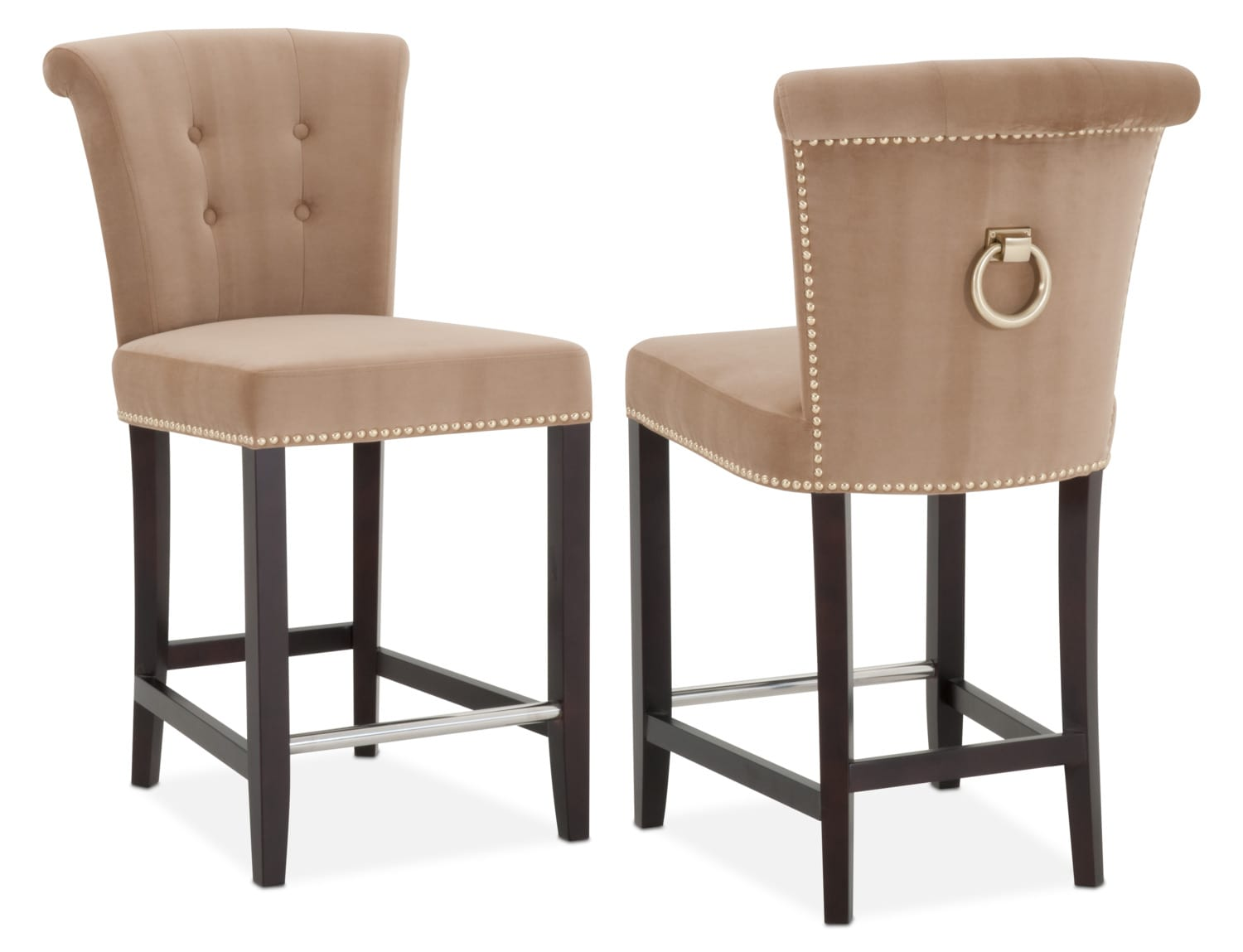 Dining room furniture calloway counter height stool camel gold