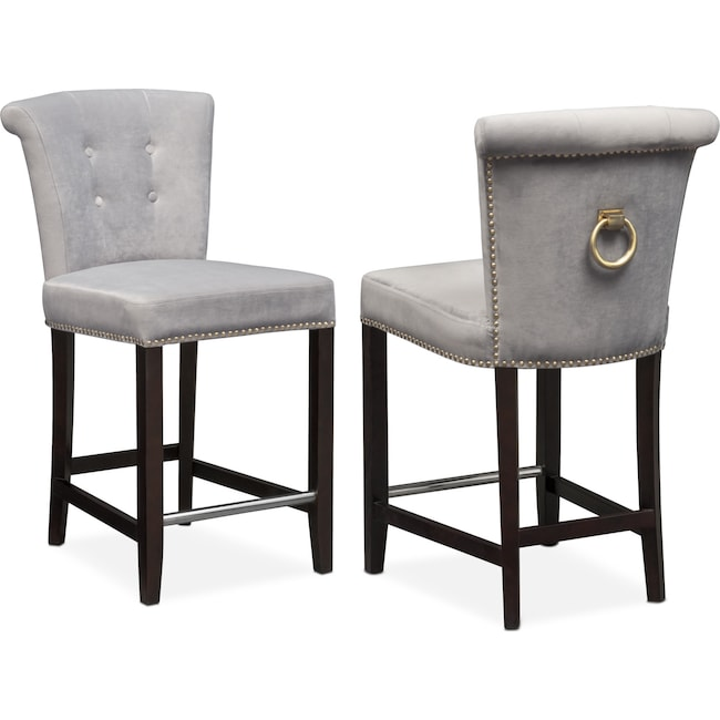 Calloway Counter Height Stool GrayGold American  : 526320 from www.americansignaturefurniture.com size 650 x 650 jpeg 46kB