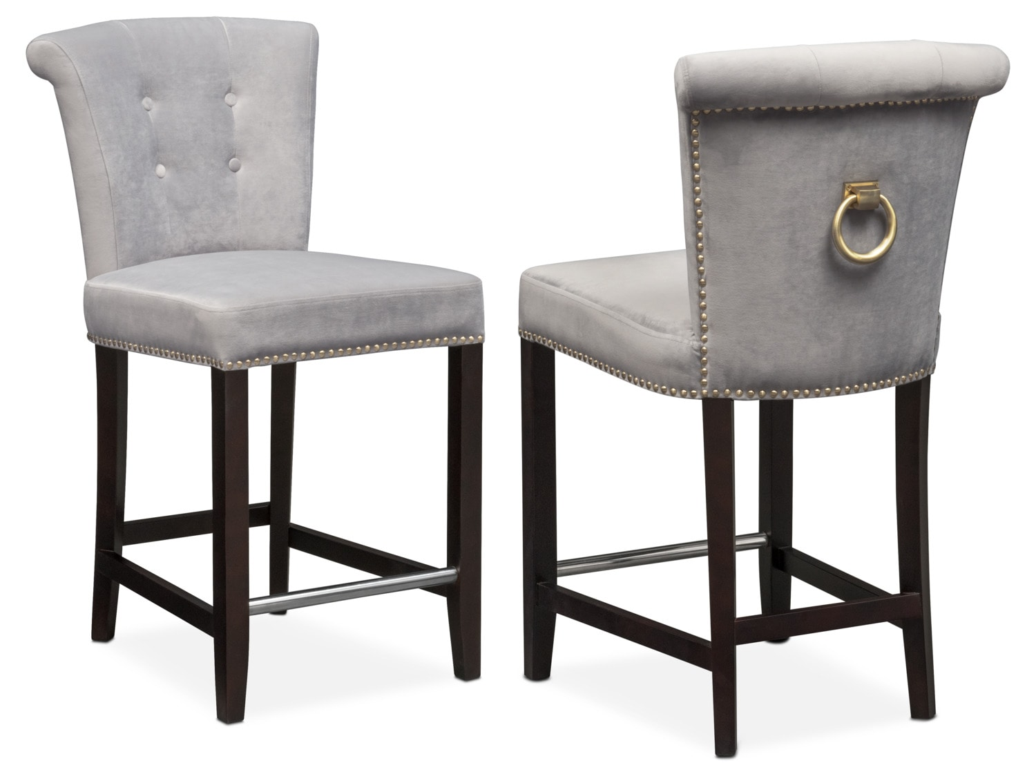Calloway Counter-Height Stool - Gray/Gold  sc 1 st  American Signature Furniture : bar chair stool - islam-shia.org