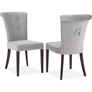 Calloway Side Chair - Gray/Silver