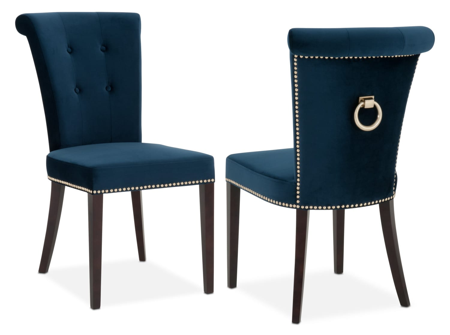Ordinaire Dining Room Furniture   Calloway Side Chair   Navy/Gold