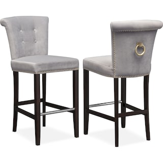 Calloway Barstool - Gray/Gold
