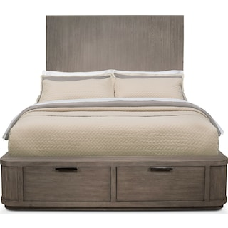 Malibu Queen Tall Storage Bed - Gray