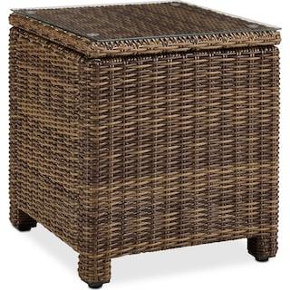 Destin Outdoor End Table - Brown