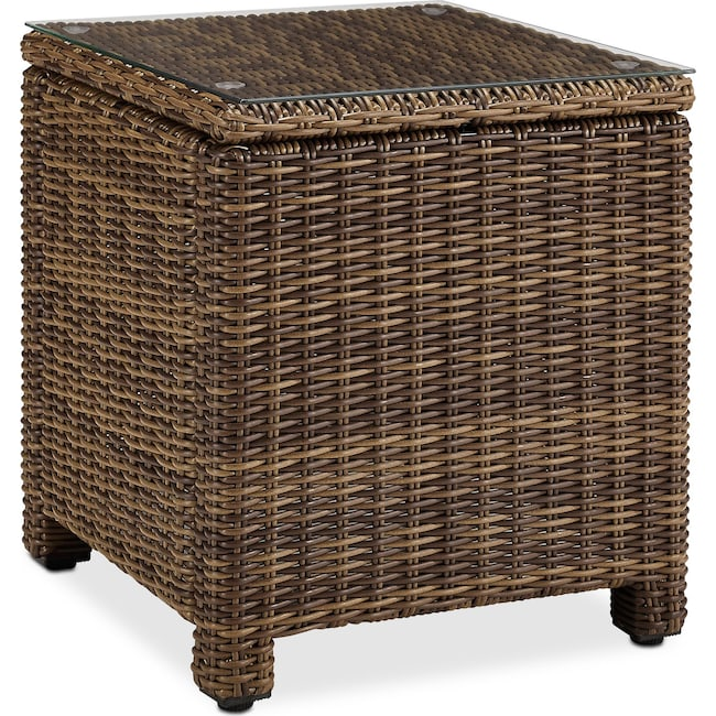 Outdoor Furniture - Destin Outdoor End Table - Brown