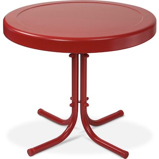 Apollo Outdoor Side Table - Red