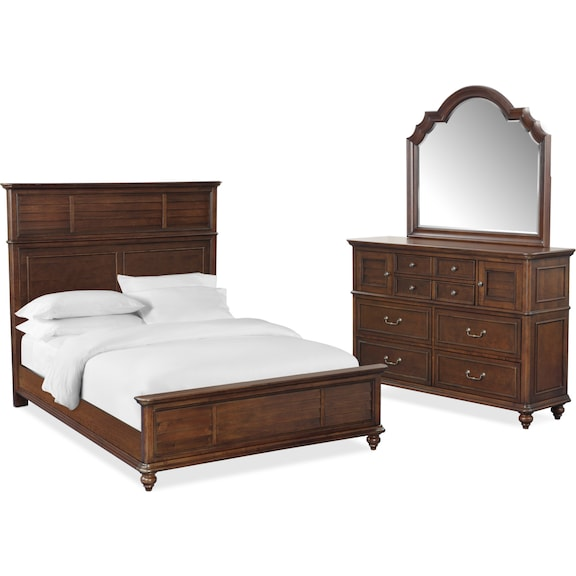 The Charleston Panel Bedroom Collection | American Signature Furniture