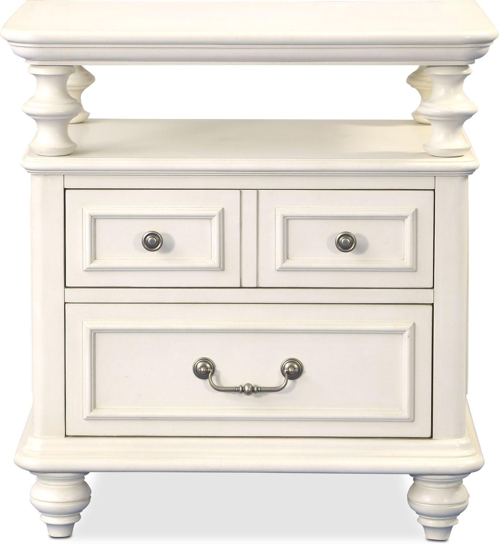 American Signature Furniture Track My Order: Charleston Open Top Nightstand - White