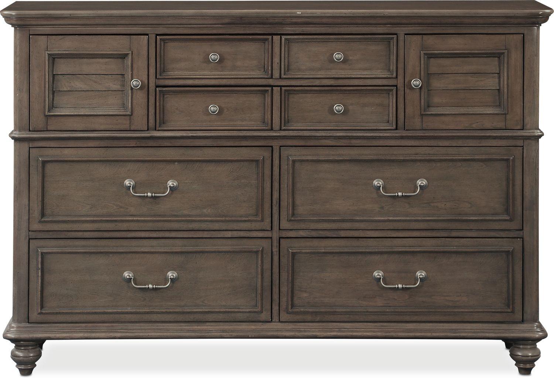 Charleston Dresser And Mirror Gray American Signature