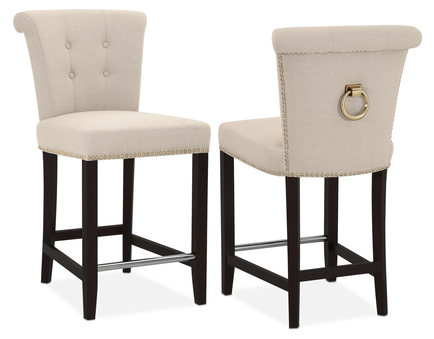 Calloway Counter-Height Stool - Natural/Gold  sc 1 st  American Signature Furniture : bar chair stool - islam-shia.org
