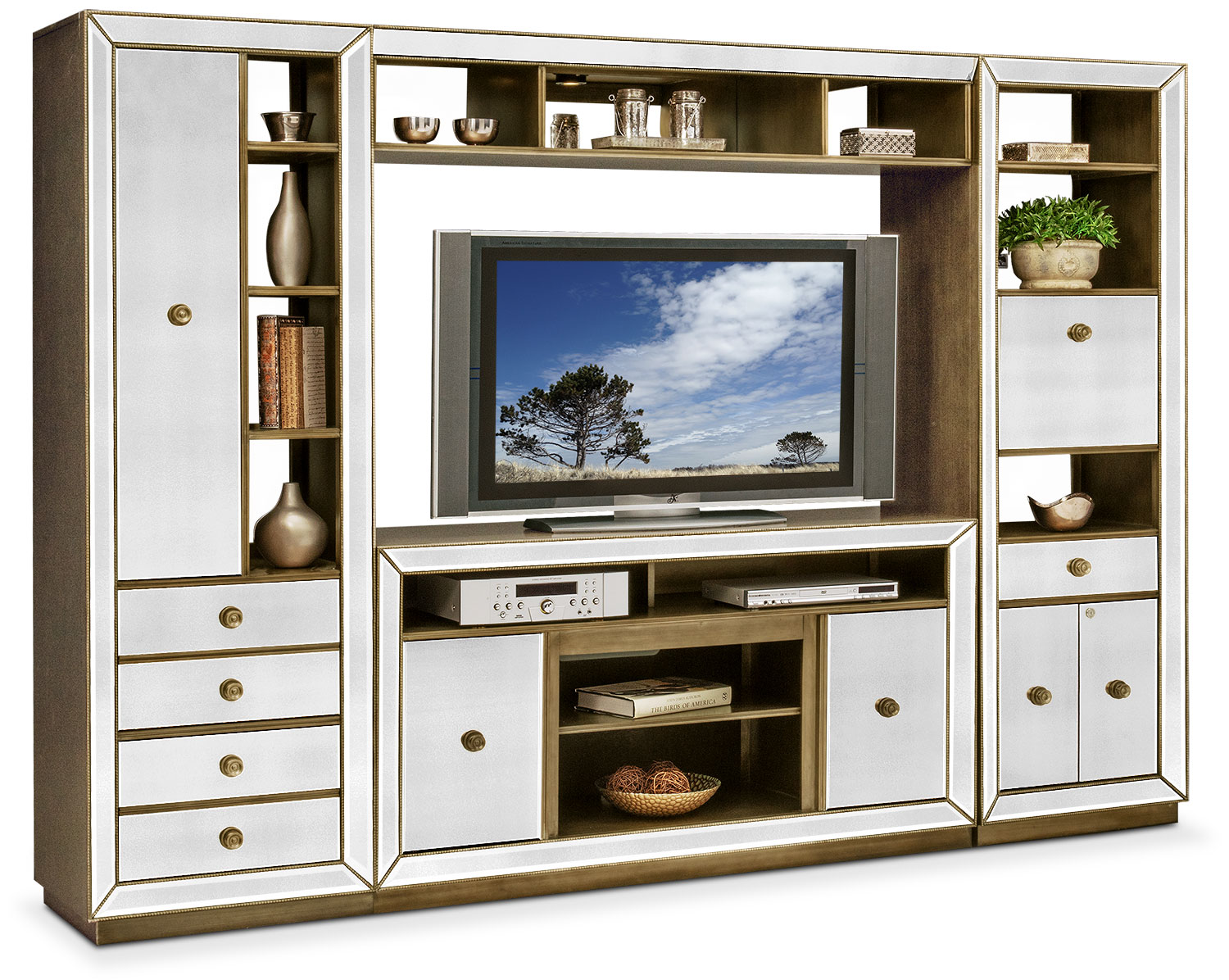 Reflection 4 Piece Entertainment Wall Unit