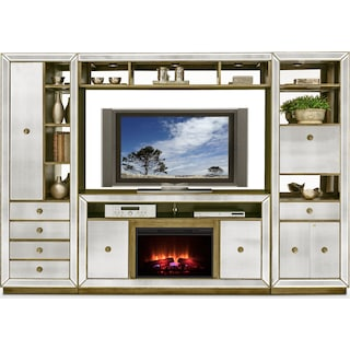 Reflection 4-Piece Entertainment Center with Fireplace