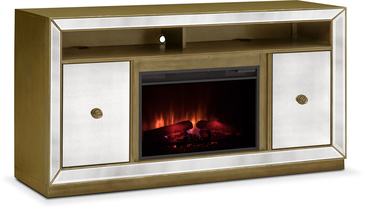 reflection traditional fireplace tv stand   mirror