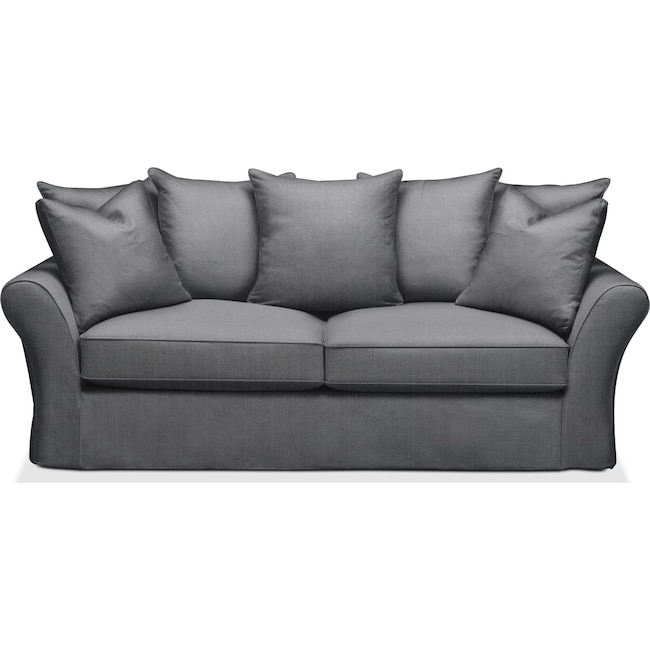 Living Room Furniture - Allison Sofa- Comfort in Depalma Charcoal