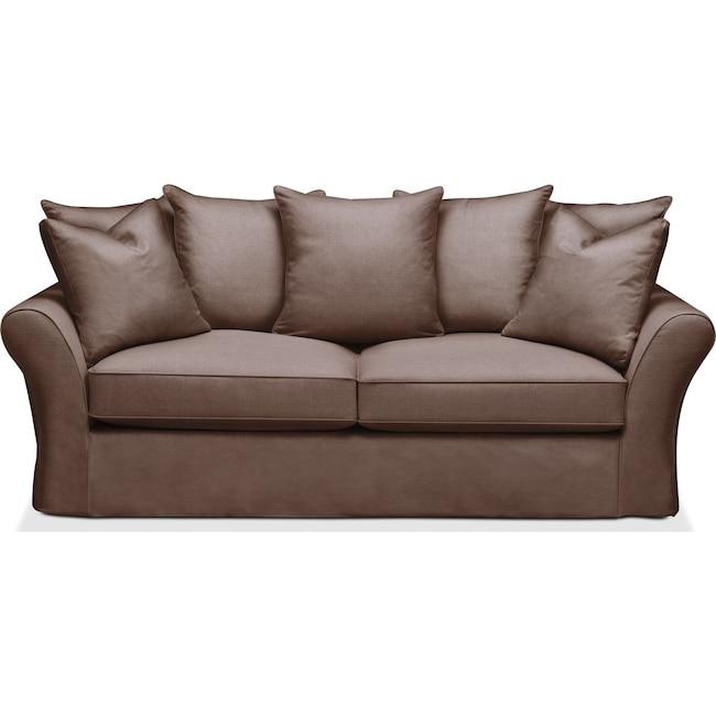 Living Room Furniture - Allison Sofa- Comfort in Oakley III Java