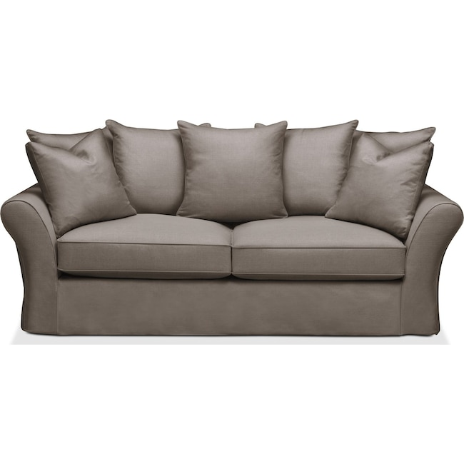 Living Room Furniture - Allison Sofa- Comfort in Oakley III Granite