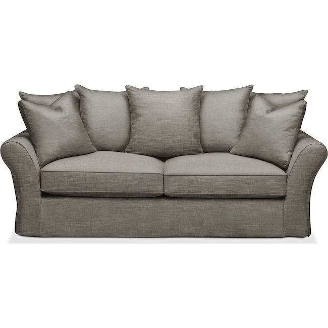 Living Room Furniture - Allison Sofa- Comfort in Victory Smoke