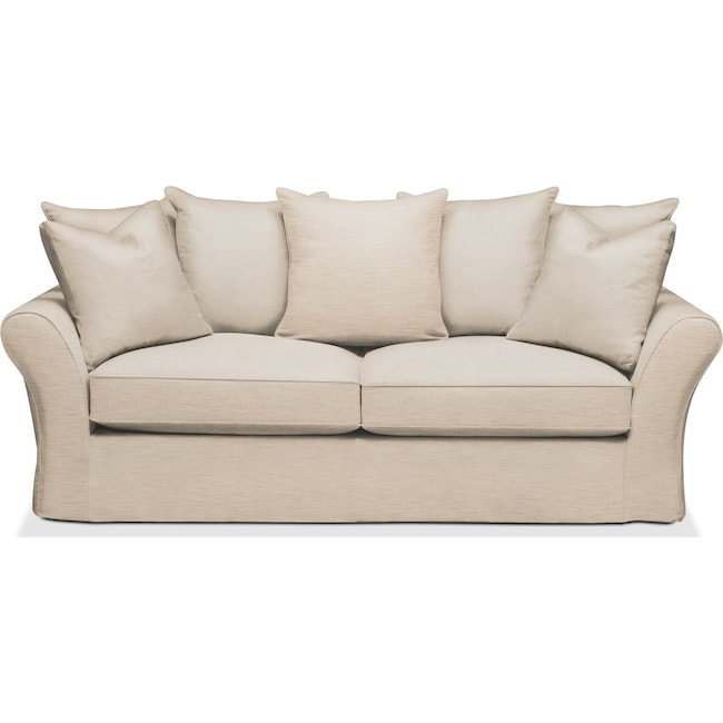 Living Room Furniture - Allison Sofa- Comfort in Victory Ivory