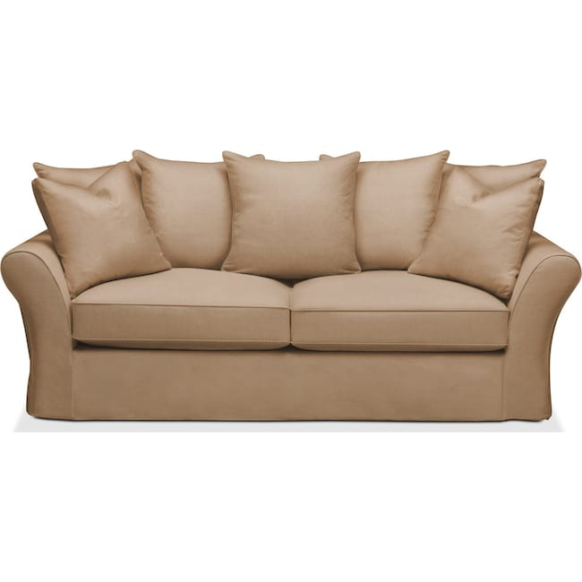 Living Room Furniture - Allison Sofa- Comfort in Hugo Camel