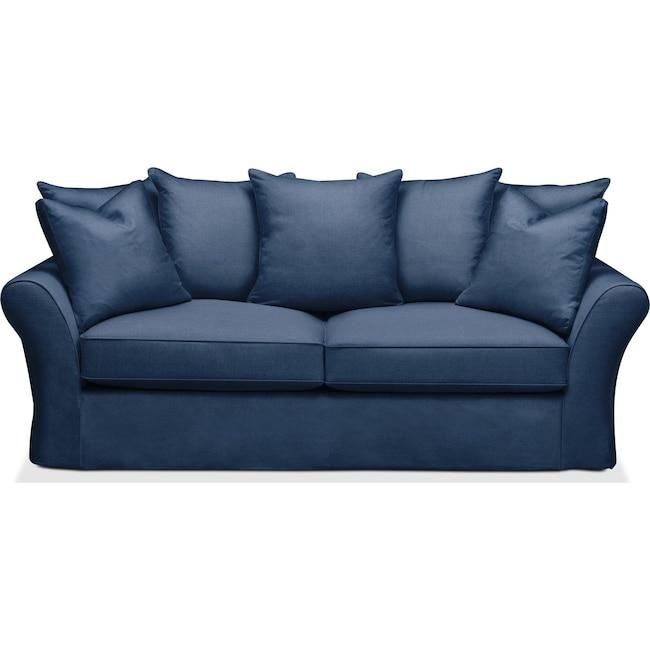 Living Room Furniture - Allison Sofa- Comfort in Hugo Indigo