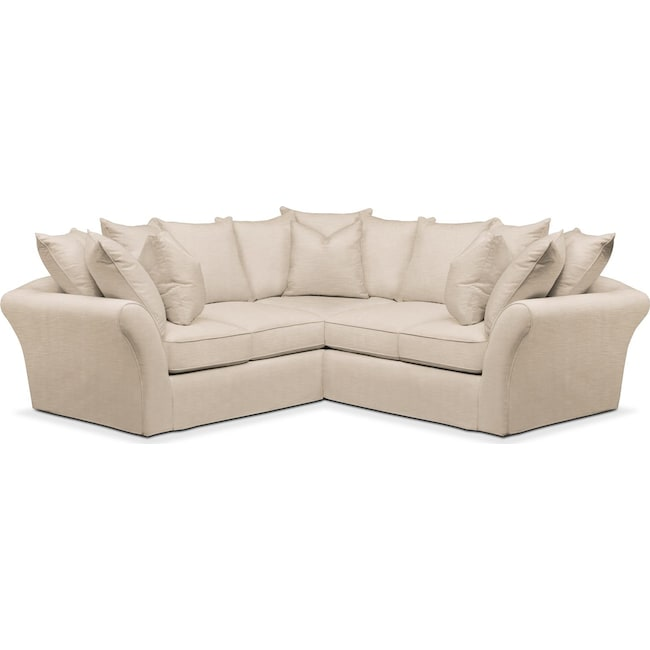 Living Room Furniture - Allison 2-Piece Sectional with Right-Facing Loveseat - Comfort in Dudley Buff