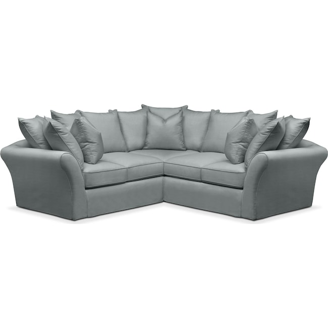 Living Room Furniture - Allison 2 Pc. Sectional with Right Facing Loveseat- Cumulus in Abington TW Seven Seas