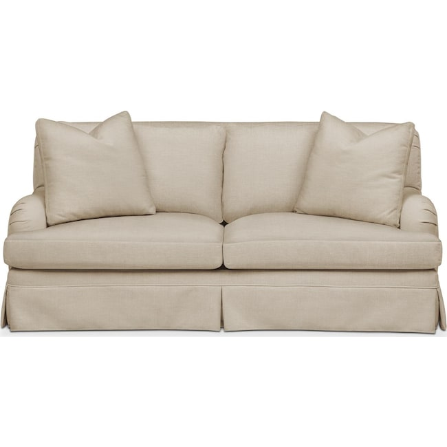 Living Room Furniture - Campbell Apartment Sofa- Comfort in Depalma Taupe