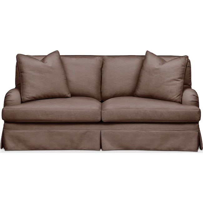 Living Room Furniture - Campbell Apartment Sofa- Comfort in Oakley III Java
