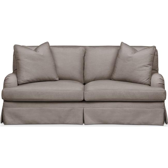 Living Room Furniture - Campbell Apartment Sofa- Comfort in Oakley III Granite
