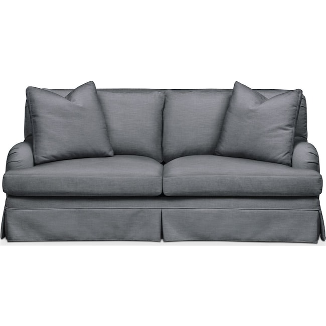 Living Room Furniture - Campbell Apartment Sofa- Comfort in Milford II Charcoal