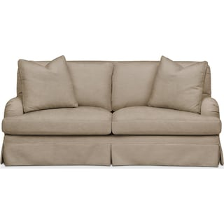 Campbell Apartment Sofa- Comfort in Dudley Burlap