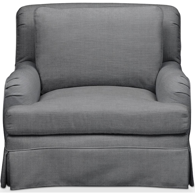 Living Room Furniture - Campbell Chair- Comfort in Depalma Charcoal