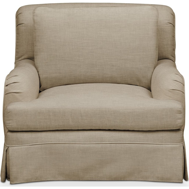 Living Room Furniture - Campbell Chair- Comfort in Milford II Toast